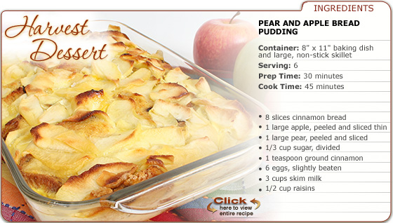 Featured Recipe: Pear and Apple Bread Pudding