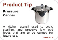 Product Tip - Pressure Canner