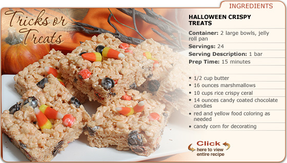 Featured Recipe: Halloween Crispy Treats