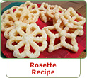 Rosettes Recipe