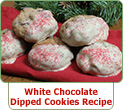 White Chocolate Dipped Oatmeal Cranberry Cookies Recipe