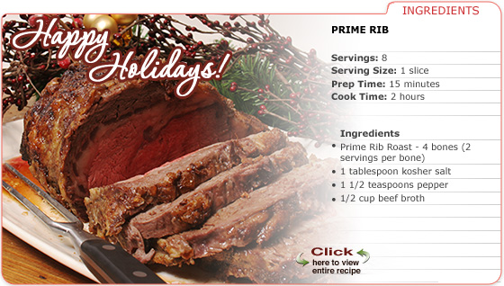 Featured Recipe: Prime Rib