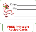 Printable Christmas Recipe Cards