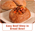 Easy Beef Stew In Bread Bowl Recipe