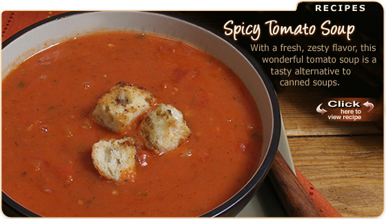 Featured Recipe: Spicy Tomato Soup
