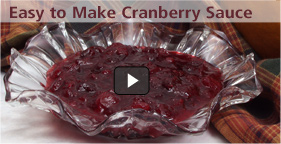 Easy to Make Cranberry Sauce Video