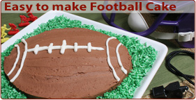 Easy To Make Football Cake