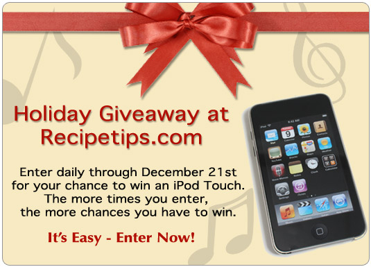 Holiday Giveaway iPod Touch