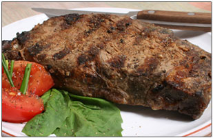 Grilled Ribeye with Chili Powder Rub Recipe