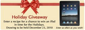 iPad Holiday Giveaway