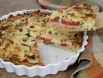 Tomato Hash Brown Quiche