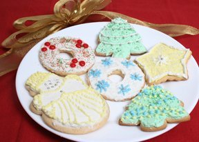 Rolled Out Sugar Cookies for Christmas