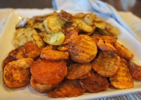 Roasted Potatoes & Sweet Potatoes
