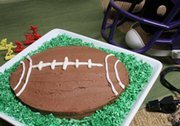 Make a Football Cake for  Super Bowl Sunday