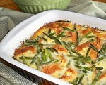 Asparagus & Cheese Bread Pudding