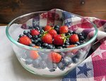 Red, White & Blue Fruit Bowl