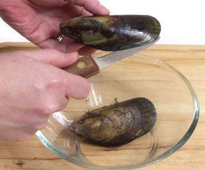 How to Prepare and Open Mussels