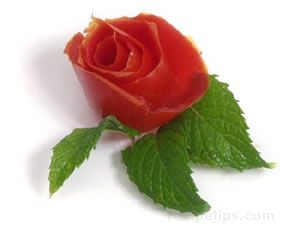 Tomato Rose Garnish How To Cooking Tips Recipetips Com