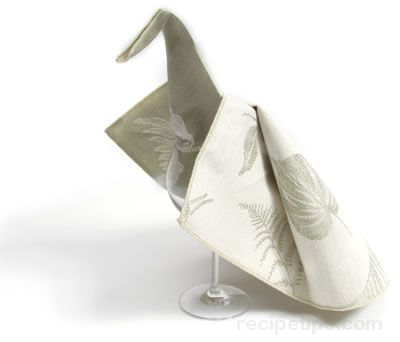 Peacock Napkin Fold Article