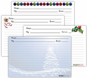 Printable Christmas Recipe Cards Article