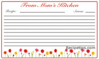 Daisy Border Recipe Card