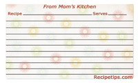 Printable Mothers Day Recipe Cards