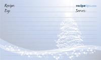 Christmas Tree Recipe Card